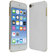Skinomi Silver Carbon Fiber Skin Cover for Apple iPod Touch [7th Gen, 2019]