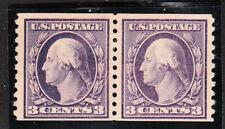 sc# 445 ( pair).  3c, violet.  Mint. LH.