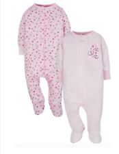 7447a778 Gerber Wonder Nation Baby Girl Pajama Zip Up Sleep N Plays Set 3-6 Month