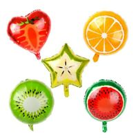 5pcs/set Fruit Foil Balloons Hawaiian Party Kids Birthday Decor Supplies