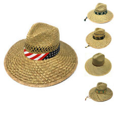 95ea5412eb8d2c Stylish Straw Hats Caps Lifeguard Sombrero Postal Sun Beach Wide Brim Unisex