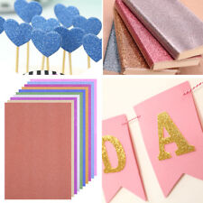 10pcs Glitter Shiny Sparkling Scrapbooking Holographic Paper Art Sheets Craft