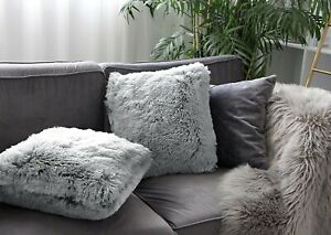 2 Pack Home Decorative Luxury Series Super Soft Faux Fur Throw Pillow Covers