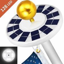 [2020 Upgraded] 128 LED Solar Flagpole Lights Waterproof Solar Powered Flag Pole