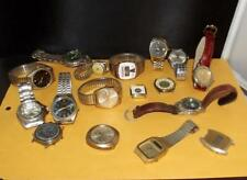 One Lot 17 Watches Waltham Invicta Vulcan Fossil Hilfiger Guess More