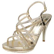 Scarpe da donna slim in oro sintetico
