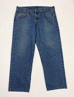 Replay jeans uomo usato gamba dritta W40 tg 54 denim vintage blu boyfriend T5740