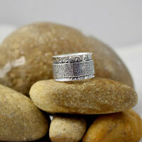 Spin Meditation Tone Band Spinning 925 Sterling Solid Silver Spinner Ring C-1