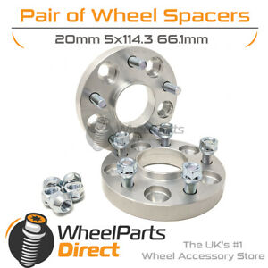 Bolt-On Wheel Spacers (2) 5x114.3 66.1 20mm for Nissan 300ZX Z31 [Mk1] 83-89