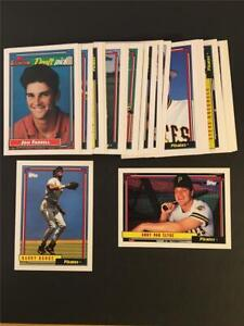 1992 Topps Pittsburgh Pirates Team Set With Traded 31 Cards