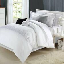 Grace White Comforter Bed In A Bag Set 8 piece - Queen