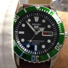 Seiko SNZF17 Custom.Mercedes Hands.Green Sub Bezel Insert