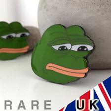 UK SELLER - Ultra Sad Pepe The Frog Meme Pin Enamel Rare Brooch Badge