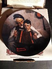 """The Edwin M Knowles China Co, Norman Rockwell Collectors Plate """"The Music Maker"""""""