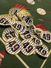 "25 - Yellow Brown White 3"" Patches All # 49 New Patch Lot Padres Colors"