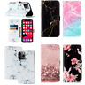 For iPhone 11 Pro Max XS 8 7 6 Luxury Marble Leather Holder Card Slot Case Cover