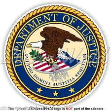 US DEPARTMENT OF JUSTICE Seal DOJ United States USA American Vinyl Sticker Decal