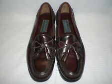 G. H. Bass Men's Shoes; Loafers with Tassels Oxblood / Cordovan Color; Size 9