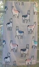 Peri Llama Bath Towels 3Pc Set Velour Gray Blue White Pink Bath/Hand/Face Cloth