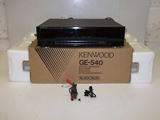 Qualità KENWOOD STEREO Graphic Equalizer GE-540 * MADE IN JAPAN * in scatola in buonissima condizione