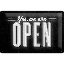 Nostalgie Blechschild - Yes,we are open - Blechschilder