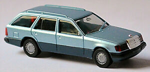 Mercedes Benz E Class T-Model 300 Te S124 1985-89 Ice Blue Metallic 1:87 Herpa
