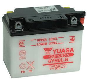 Genuine Yuasa 6YB8L-B Motorbike Motorcycle 6V Battery