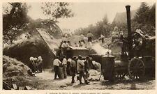 77 LIEUSAINT PROCHE BATTAGE DU BLE A LA VAPEUR IMAGE 1929 OLD PRINT