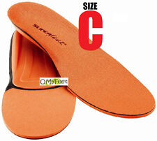 Superfeet ORANGE Insoles Inserts Orthotic Arch Support MEN Shoe Size 5.5 to 7 #C