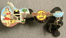 MIAMI,Hard Rock Cafe Pin,Guitar With Charm Series,Sexy girl with sun glasses