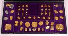 Salesman Jewelry Sample Kit Award Team Class School Sports Medals Badge Pin Fob