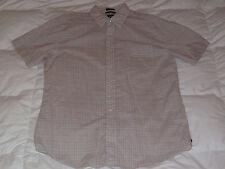 Authentic GAP Plaid Check Button Down Blue Peach  Mens Shirt Sz L