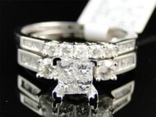 1.0 Ct Women's White Gold Princess Cut Diamond Engagement Wedding Bridal Ring