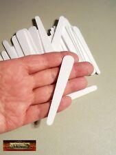"""M00317 MOREZMORE 50 Small Plastic Disposable Craft Cosmetic 3"""" Spatulas A60"""