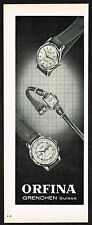 1950s Old Vintage 1953 Orfina Swiss Watch Paper Print Ad