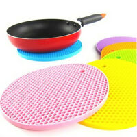 Silicone Round Trivet Table Heat Resistant Mat Cup Coaster Cushion PlacematRDUK