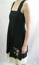 Maiocchi Size 8 Black Cotton Party Dress
