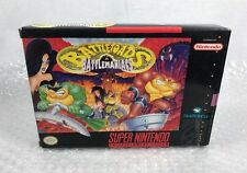 Super Nintendo SNES Battletoads in Battlemaniacs Box & Insert Only No Game