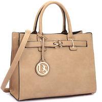 Dasein Women Handbags Faux Leather Satchel Tote Bags Shoulder Bag Medium Purse