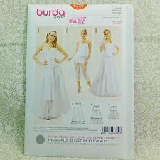 Burda 6739 Petticoat 3 looks Midi Long Underskirt Pattern sz 10-20 Euro sz 36-46