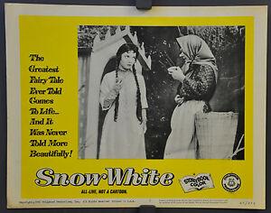 SNOW WHITE 1965 ORIGINAL 11X14 LOBBY CARD #2 DISNEY