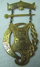 1917 BATON SWINGING FIRST PRIZE Medallion DeWitt Clinton Ornate 1st Award
