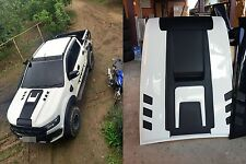 WHITE HOOD SCOOP BONNET COVER WILDTRAK FORD RANGER MK2 PX2 XLT XL 2015 2016 2017