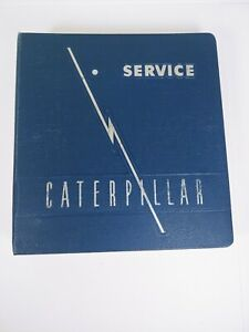 Antique Caterpillar Machinery Owners Club Lot Of 13 in Cat Service Manual Binder