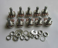 10x Linear 250K Electric Guitar Mini Pots Short Split Shaft Potentiometer B250K
