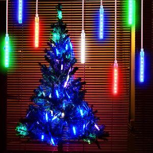 LED Lights Meteor Shower Rain Snowfall Xmas Tree Garden Outdoor Christmas Party