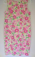 Liz Claiborne Lizsport Floral Print Cotton Sleeveless Dress Size 6 Pink Green