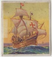 "The ""Santa Maria"" Christopher Columbus Explorer c80 Y/O Trade Ad Card"