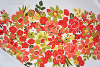 Floral Twill Fabric Panel Bright Tropical Print By the Yard Panel Bfab