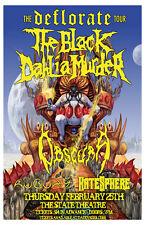 The Black Dahlia Murder * Original Concert Poster rare 2010* FREE SHIPPING